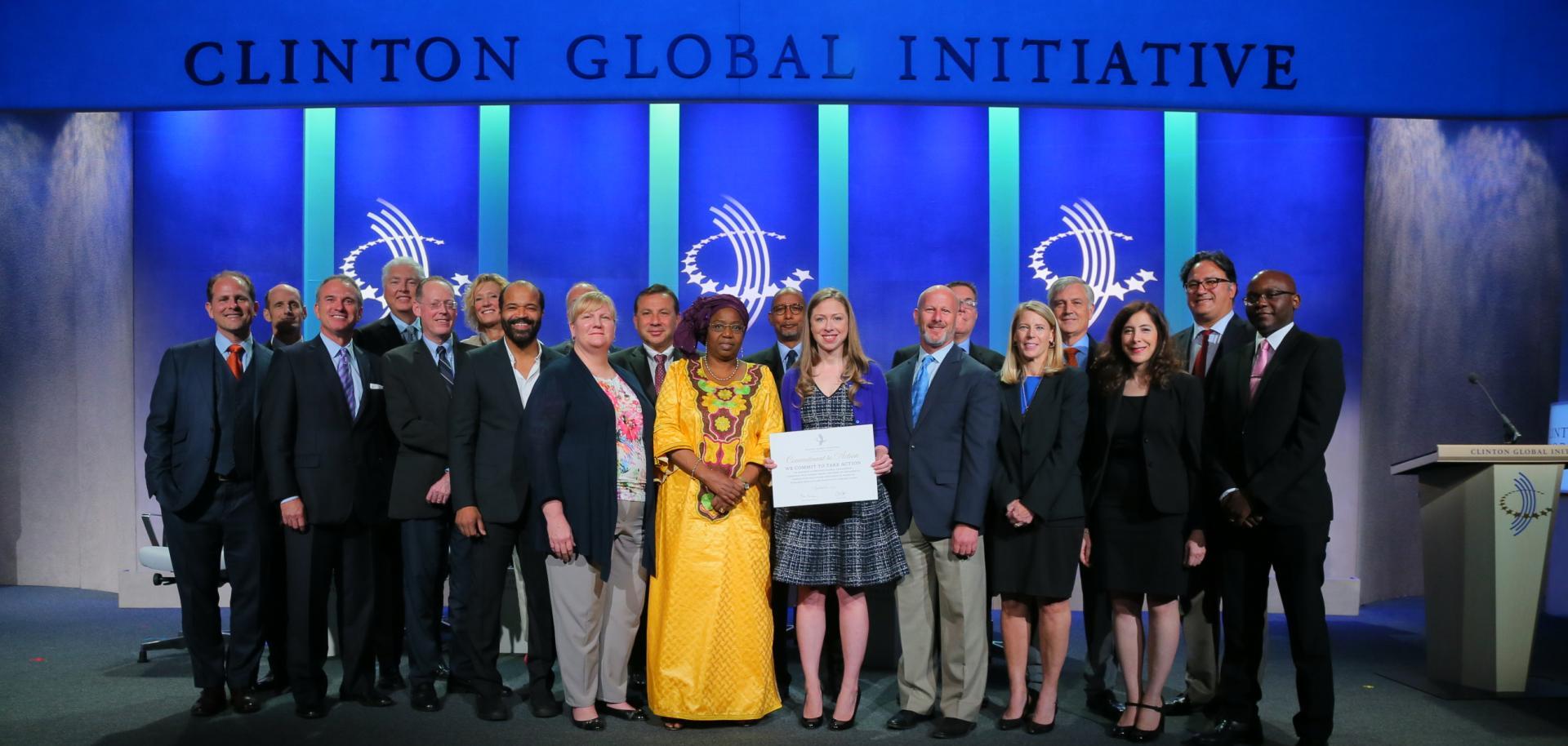 Dr. Stephen Kahn,  far left. Photo from Clinton Global Initiative website.